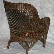 Image of WIcker Chair, Back