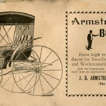 Image of J.B. Armstrong Buggies and Carriages, 1899, inside back cover