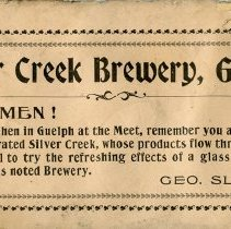 Image of Silver Creek Brewery Ad, back cover