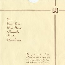 Image of Envelope from N. A. Tovell Funeral Home