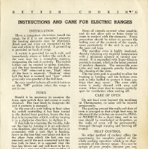 Image of Instructions & Care for Electric Ranges, page 3