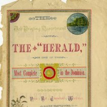 Image of Reverse Side of Advertising Circular for the Guleph Herald, c. 1880