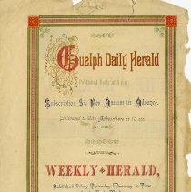 Image of Guelph Daily Herald Advertising Circular