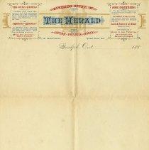 Image of Guelph Herald Letterhead, circa 1885