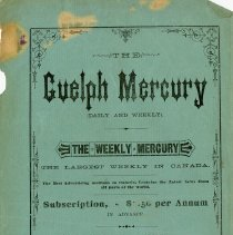 Image of Advertising Flyer, Guelph Mercury, c.1880