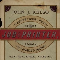 Image of Advertising Circular, John J. Kelso, Printer