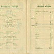 Image of Menu and Wine List