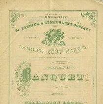 Image of Program for St. Patrick's Benevolent Society, 1879