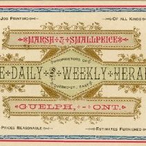 Image of Guelph Herald Advertising Card