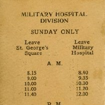 Image of Military Hospital Division, Sunday Only, back cover