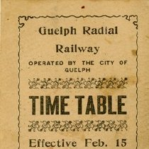 Image of Guelph Radial Railway Timetable, 1919