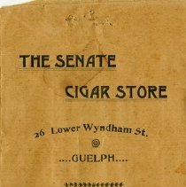 Image of Cigar Pouch, The Senate Cigar Store, c.1882