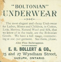 Image of Ad for Boltonian Underwear