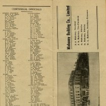 Image of List of Centennial Officials, page 28