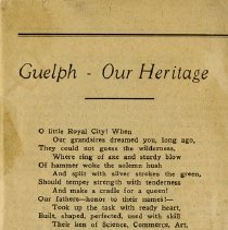 Image of Program for Guelph's Centennial Celebrations, 1927