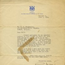 Image of Letter from George Drew to Bill Stephenson, 1944