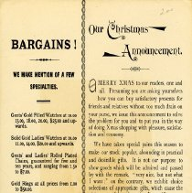 Image of Christmas Advertisement, Jos. Pequegnat
