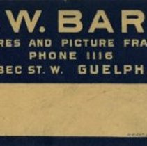 Image of Label, G. W. Bard, Picture Framer