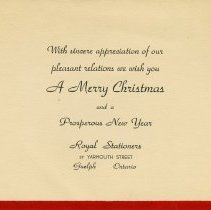 Image of Christmas Greeting from Royal Stationers