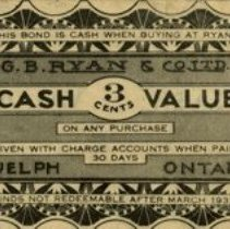 Image of 3 Cents Coupon, G.B. Ryan & Co., 1933