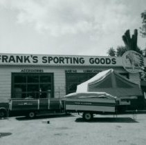 Image of Frank's Sporting Goods Sign