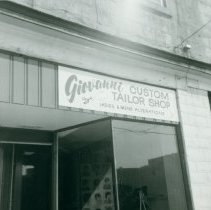 Image of Giovanni Tailor Shop Sign
