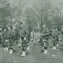 Image of Pipe Band on Parade, 1945