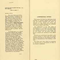 Image of Next-of-kin Pamphlet, first page, 1943