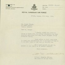 Image of Letter Updating status of G.F. Clough, page 2, June 27, 1944