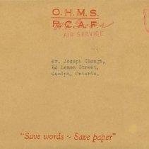 Image of Letter Updating status of G.F. Clough, envelope, June 27, 1944