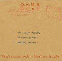 Image of Letter - G.F. Clough Presumed Dead, envelope, December 1, 1944