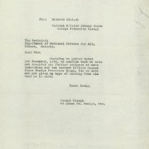 Image of Response Letter from Joseph Clough, 1944