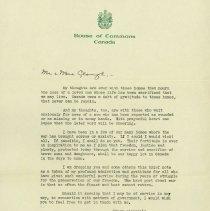 Image of Letter of Gratitude, 1944/1945?