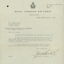Image of Letter -re. Estate and Will, March 2, 1945