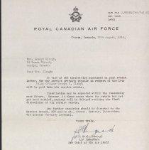 Image of CAF Letter G. Clough 1946