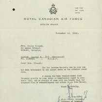 Image of RCAF Letter G. Clough