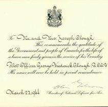Image of Memorial Card, G.F. Clough