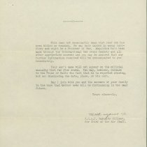 Image of Missing In Action Confirmation Letter, page 2, April 14, 1944.
