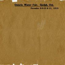 Image of .2 - Ontario Winter Fair Envelope, 1919