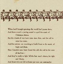 Image of Mercury Christmas Card Verse, 1914