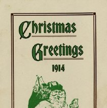 Image of Christmas Card from the Mercury Carrier Boy, 1914