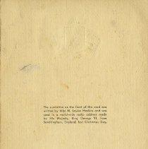 Image of Back of Christmas Card