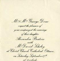 Image of Wedding Invitation for Sandra Drew