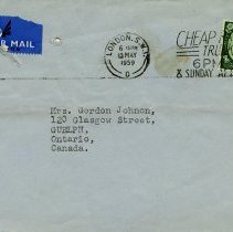 Image of .2 - Envelope to Mrs. Gordon Johnson, Guelph