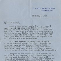 Image of .1 Letter from Fiorenza Drew, May 14, 1959