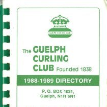 Image of The Guelph Curling Club 1988-1989 Directory