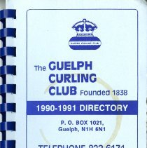 Image of The Guelph Curling Club 1990-1991 Directory