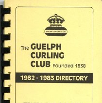 Image of The Guelph Curling Club 1982-1983 Directory