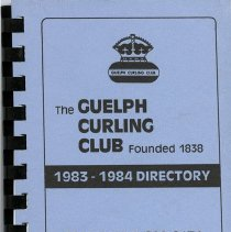 Image of The Guelph Curling Club 1983-1984 Directory