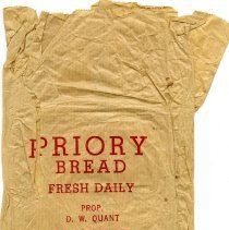 Image of Priory Bread Paper Bag, c. 1961